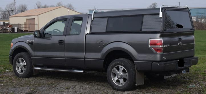 Aluminum Truck Canopy : Cab high basic aluminum truck cap sale installed